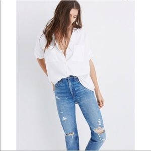 Madewell White Cotton Courier Shirt L